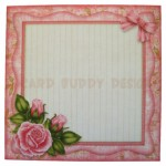 Pink Rose Wavy Edged Fold Card - envelope front