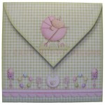 A New Baby Girl Fold Card - envelope back