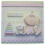 A New Baby Girl Fold Card - view 1