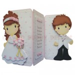 Bride & Groom Shaped Tri Fold Card - view 1