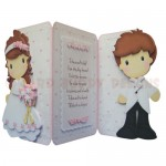 Bride & Groom Shaped Tri Fold Card - view 2
