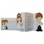 Bride & Groom Shaped Tri Fold Card - finished set