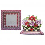 Floral Planter Shaped Easel Card - finished set