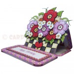 Floral Planter Shaped Easel Card - view 2