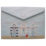 At The Beach Over The Top Tri Fold Card - envelope back