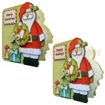 Christmas Greetings Shaped Fold Card - view 2