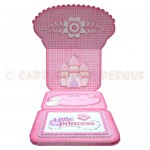 Little Princess Shaped Easel Card - inside view