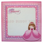Little Princess Shaped Easel Card - envelope front
