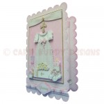 Girl Christening/Baptism/Naming Scalloped Fold Card - view 2
