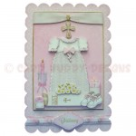 Girl Christening/Baptism/Naming Scalloped Fold Card - view 1