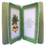 Christmas Bell Rounded Corner Fold Card - inside view