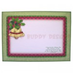 Christmas Bell Rounded Corner Fold Card - envelope front
