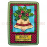 Christmas Bell Rounded Corner Fold Card - view 1