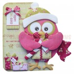 Happy Owl-idays Shaped Fold Card - view 1