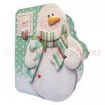 Snowy Greetings Shaped Fold Card - view 2