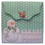 Snowy Greetings Shaped Fold Card - envelope back