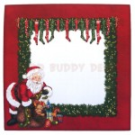 Santa's Last Delivery Plate Card - envelope front