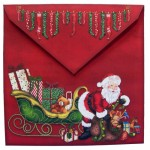 Santa's Last Delivery Plate Card - envelope back
