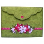 Christmas Bells Shadow Box Fold Card - envelope back