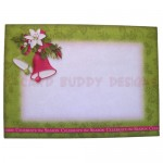 Christmas Bells Shadow Box Fold Card - envelope front