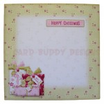 Christmas Gifts Shaped Fold Card - envelope front