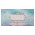 Romantic Swans Over The Top Easel Card - envelope front