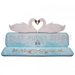 Romantic Swans Over The Top Easel Card - view 1