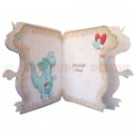 A Burning Desire Shaped Fold Card - inside view