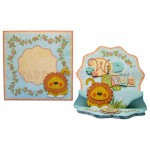 Wild About You Double Decker Wavy Edged Round Easel Card 6