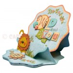 Wild About You Double Decker Wavy Edged Round Easel Card 2