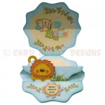 Wild About You Double Decker Wavy Edged Round Easel Card 3