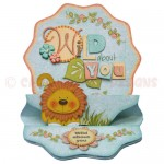 Wild About You Double Decker Wavy Edged Round Easel Card 1