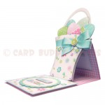 Basket of Easter Eggs Shaped Easel Card - view 2