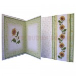 Sunflowers Assymetric Fold & Side Panel Card - inside view