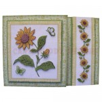 Sunflowers Assymetric Fold & Side Panel Card - view 1