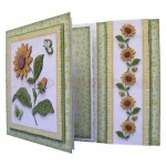Sunflowers Assymetric Fold & Side Panel Card - view 2