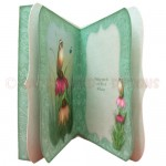 Bird & Cone Flowers 7x7 Bracket Edge Shadow Box Fold Card 3