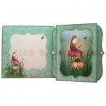 Bird & Cone Flowers 7x7 Bracket Edge Shadow Box Fold Card 6