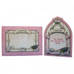 Female Graduation Arched Fold Card - finished set