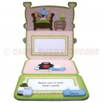 Beary Pawly Shaped Easel Card - inside view