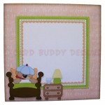 Beary Pawly Shaped Easel Card - envelope front