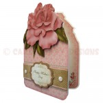 Dusky Pink Rose Shaped Fold Card - view 2