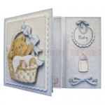 Beary Cute Baby Boy Assymetric Fold & Side Panel Card - view 2