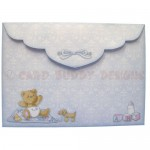 Beary Cute Baby Boy Assymetric Fold & Side Panel Card - envie 2