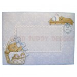 Beary Cute Baby Boy Assymetric Fold & Side Panel Card - envie 1