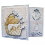 Beary Cute Baby Boy Assymetric Fold & Side Panel Card - view 1