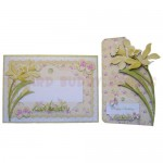 Golden Daffodils Shaped Fold Card - finished set