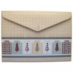 Gentleman's Shirt Shaped Fold Card - envelope back