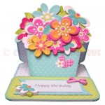 Sunshine & Flowers Shaped Easel Card - view 1