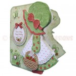 Strawberry Sue Shaped Fold Card - view 2